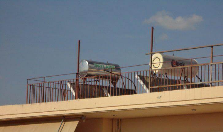 ηλιακοί θερμοσίφωνες σε πολυκατοικία Greenbuilding